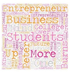 peter burns entrepreneurship 1 text background vector image