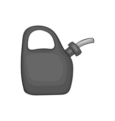 Plastic canister of gasoline icon vector