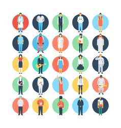 Professions Colored Icons 2 vector