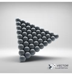Pyramid of balls 3d vector
