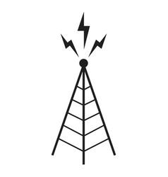 radio antenna sending signal icon wireless vector image