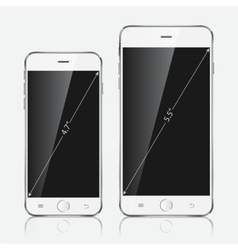 Realistic white mobile apple iphone 6 plus vector image