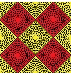 Red and Yellow Lattice Pattern vector