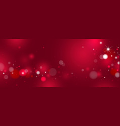 red bokeh background design vector image