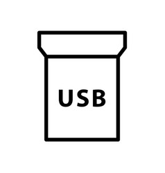 Removable usb adapter with text icon linear logo vector