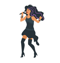 rock metal singer vector image