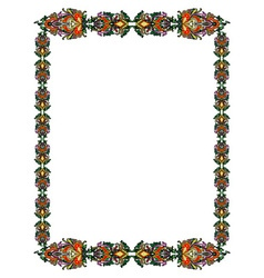 Russian style frame vector image