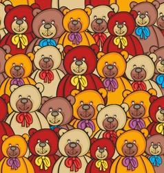 Seamless bears vector