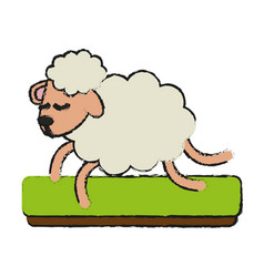 sheep running cartoon vector image