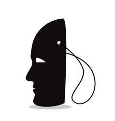 Silhouette of a mask on a string vector
