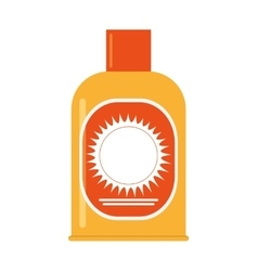 Sunscreen lotion icon vector
