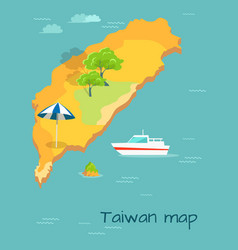 Taiwan map cartography chinese island in ocean vector