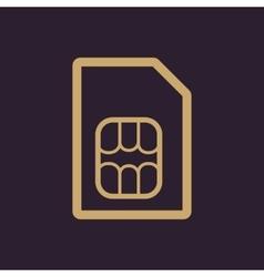 The sim card icon Sim Card symbol Flat vector