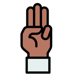 Three-finger salute icon protest related vector