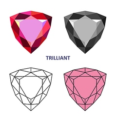 Trilliant gem cut vector image