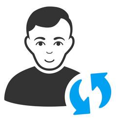 User update icon vector
