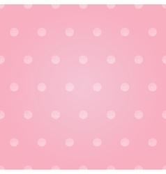 vintage pastel pink bagirl polka dots vector image