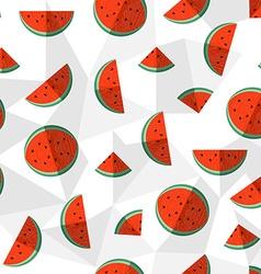 Watermelon summer background healthy fruit design vector image