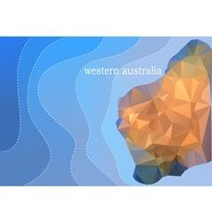 western australia vector image