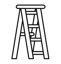 wooden ladder icon outline style vector image