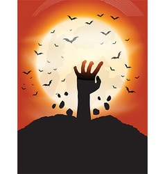 Zombie hand background 0910 vector