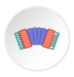 Accordion icon cartoon style vector