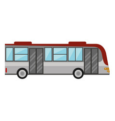 bus public transport vehicle vector image