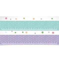 Children height meter wall Sticker set lilac blue vector image