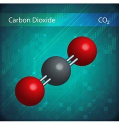 CO2 molecules vector image