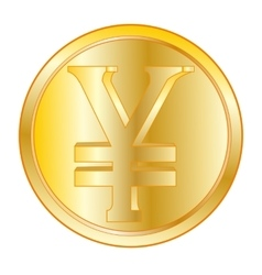 Coin with sign jpy vector