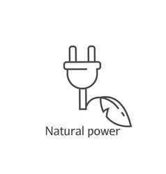 eco power abstract icon saving electricity vector image