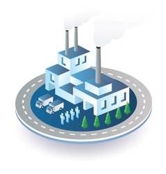 Industrial plant vector image