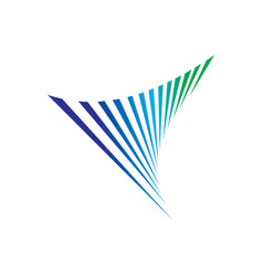 swirl technology business logo vector image