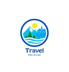 Travel icon for tourist industry vector image