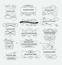 Calligraphic elements for design vector image