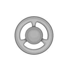 Car rudder icon black monochrome style vector image