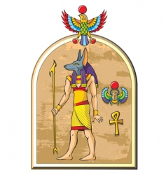 Egyptian god Anubis vector image vector image