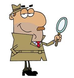 Hispanic Cartoon Detective Man vector image