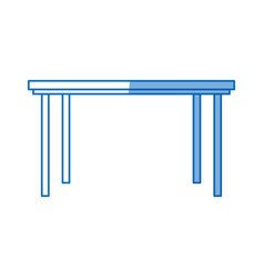 table furniture wooden modern style design vector image vector image