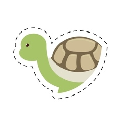 Turtle plastic toy pet dotted vector
