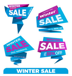 winter sale sale label price tag banner badge vector image
