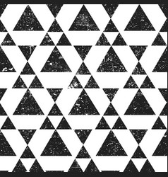 black geometric triangle background abstract vector image vector image