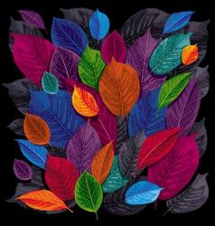 dark leaves background vector image