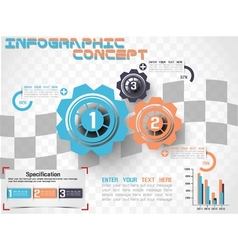 INFOGRAPHIC MODERN STYLE GEAR 2 vector image vector image