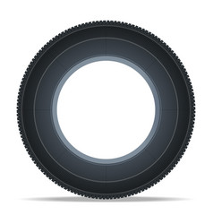 modern vehicle tire icon vector image vector image
