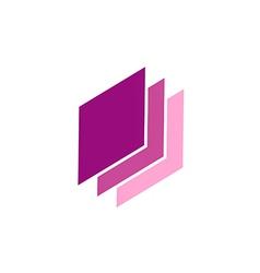 Shape paper abstract data technology logo vector