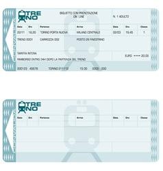 train ticket vector image vector image