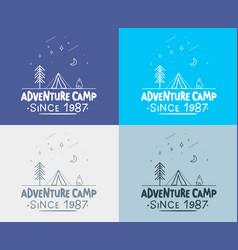 trendy camping label hand drawn t shirt print vector image