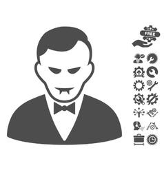 Vampire icon with tools bonus vector