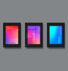 Abstract cover design gradient colorful vector